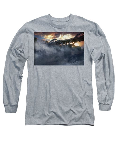 Sunset Fog At Caveman Bridge Long Sleeve T-Shirt