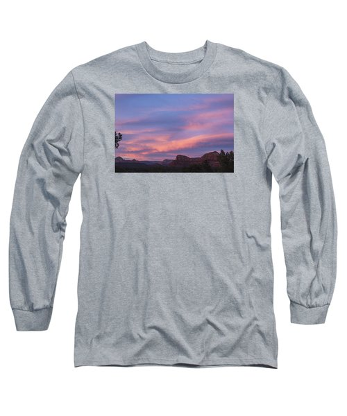 Long Sleeve T-Shirt featuring the photograph Sunset From Bell Rock Trail by Laura Pratt