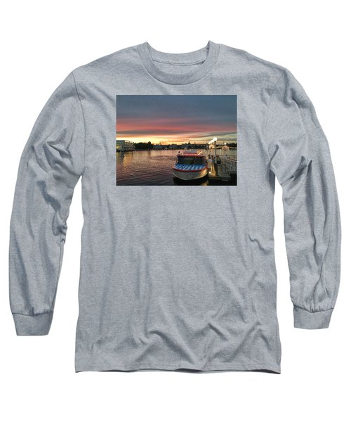 Sunset From The Boardwalk Long Sleeve T-Shirt by John Black