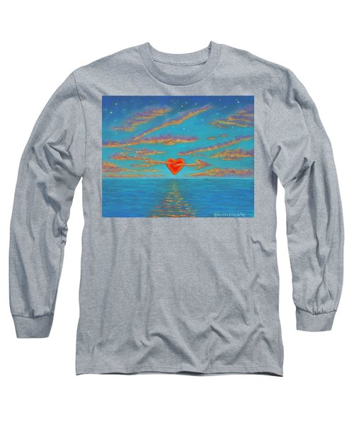 Sunset Heart 01 Long Sleeve T-Shirt