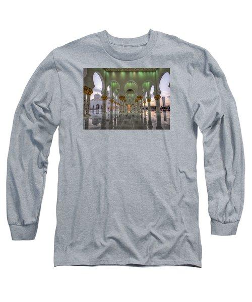 Long Sleeve T-Shirt featuring the photograph Sunset Hindu Temple by John Swartz