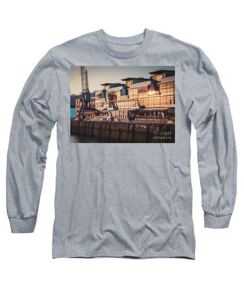 Sunset In Altona Hamburg Long Sleeve T-Shirt