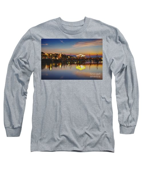 Sunset In Hoi An Vietnam Southeast Asia Long Sleeve T-Shirt