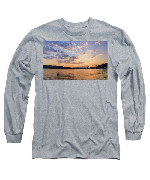Sunset In Lake Sammamish Long Sleeve T-Shirt