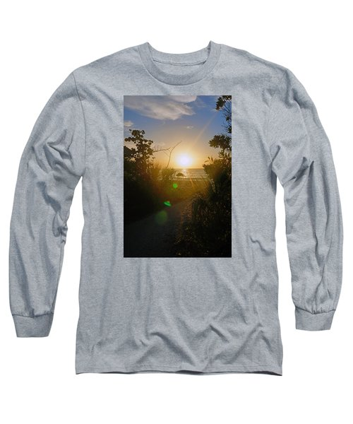 Sunset In Naples At Barefoot Beach Long Sleeve T-Shirt