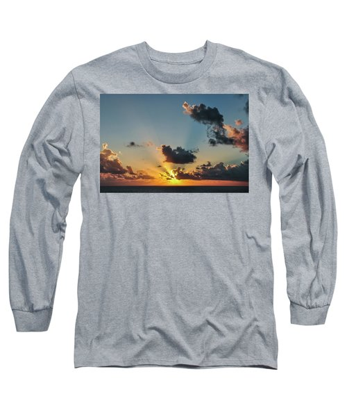 Sunset In The Caribbean Sea Long Sleeve T-Shirt