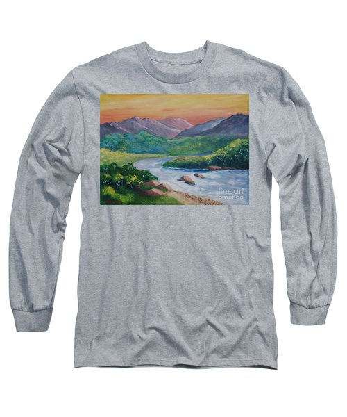 Sunset In The River Long Sleeve T-Shirt