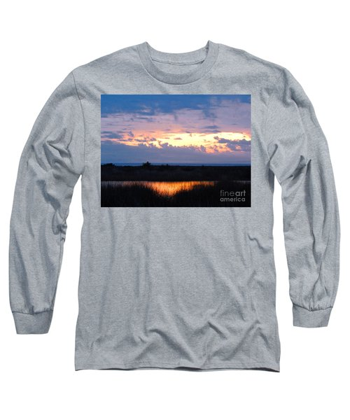Sunset In The River Sea Beyond Long Sleeve T-Shirt by Expressionistart studio Priscilla Batzell