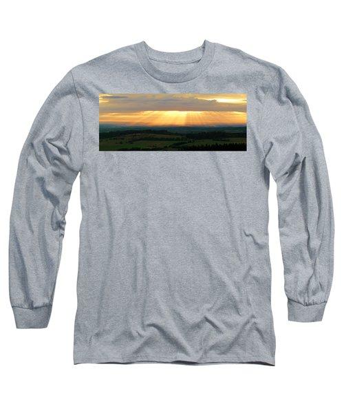 Sunset In Vogelsberg Long Sleeve T-Shirt