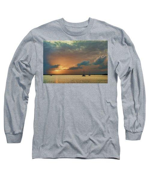Sunset, Key Largo Long Sleeve T-Shirt by Dana Sohr