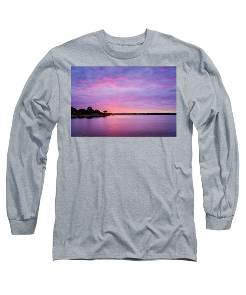 Sunset Lake Arlington Texas Long Sleeve T-Shirt
