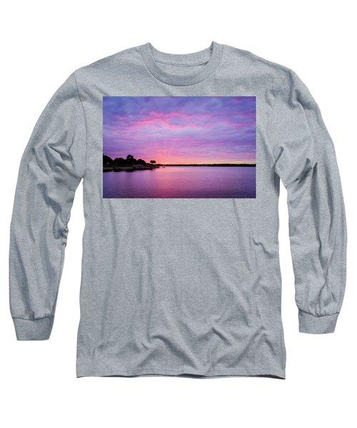Sunset Lake Arlington Texas Long Sleeve T-Shirt