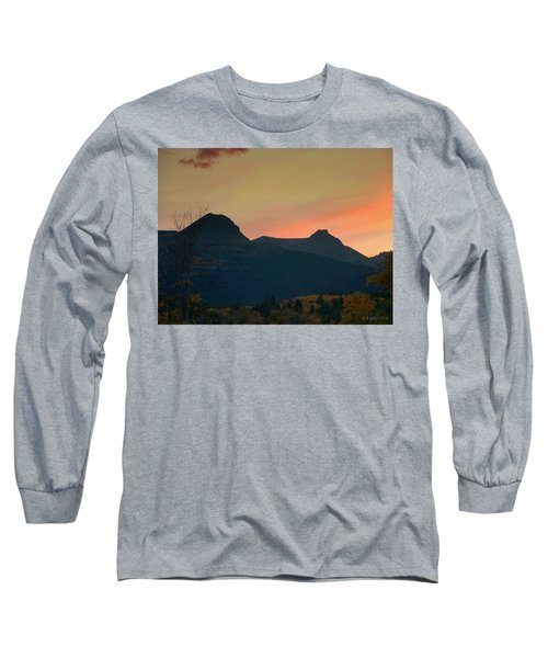 Sunset Mountain Silhouette Long Sleeve T-Shirt
