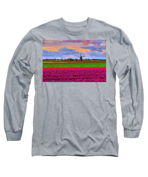 Sunset Of Colors Long Sleeve T-Shirt by Midori Chan