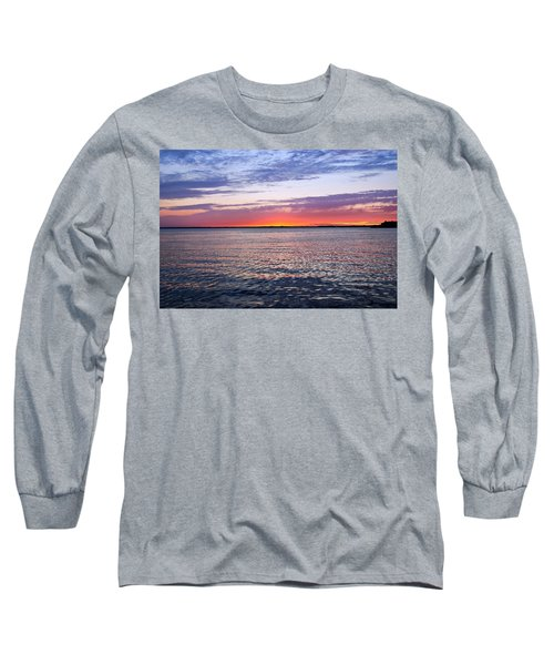 Sunset On Barnegat Bay I - Jersey Shore Long Sleeve T-Shirt