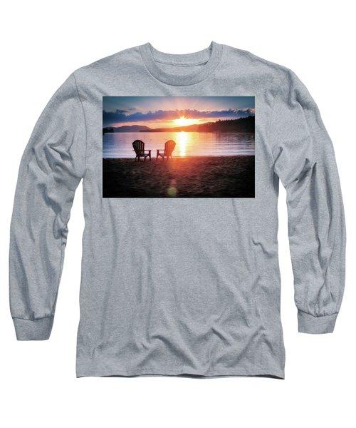 Sunset On Fourth Lake Long Sleeve T-Shirt