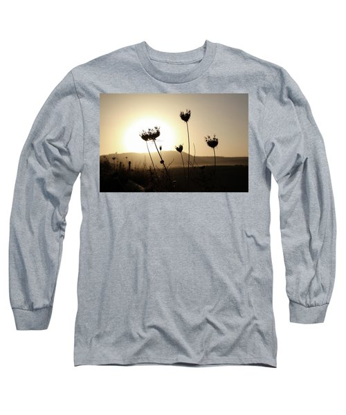 Long Sleeve T-Shirt featuring the photograph Sunset On Galilee Road by Yoel Koskas