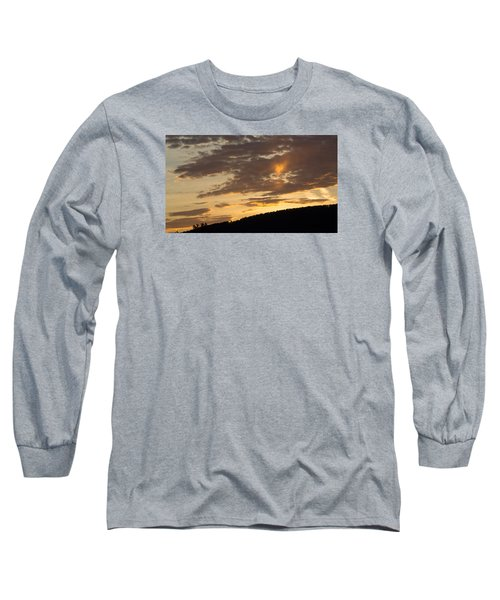 Sunset On Hunton Lane #5 The Heart Knows Long Sleeve T-Shirt by Carlee Ojeda