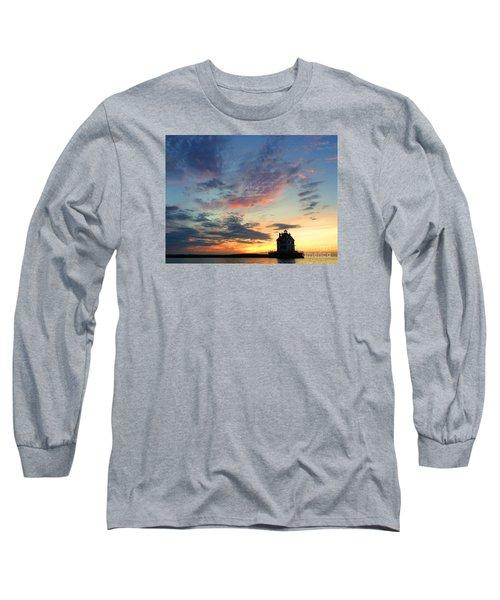 Sunset On Lighthouse Long Sleeve T-Shirt