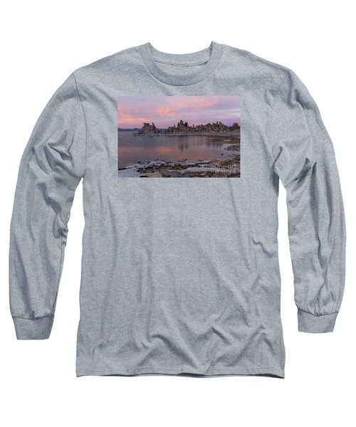 Long Sleeve T-Shirt featuring the photograph Sunset On Mono Lake by Sandra Bronstein
