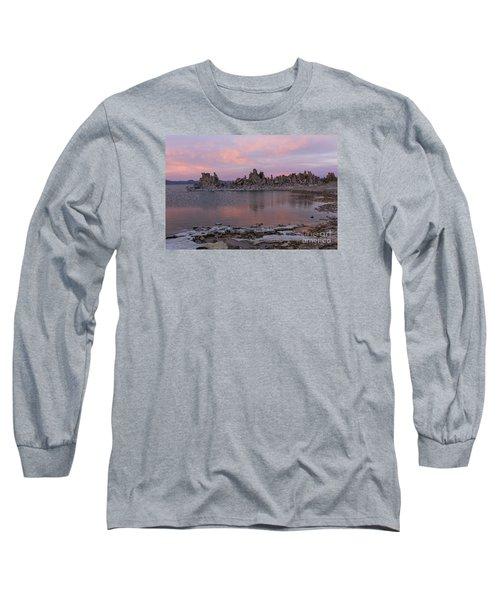 Sunset On Mono Lake Long Sleeve T-Shirt by Sandra Bronstein