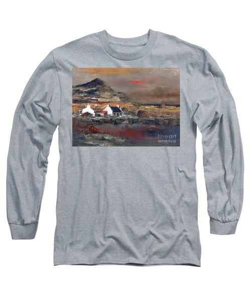 Sunset On Mount Errigal, Dunegal Long Sleeve T-Shirt