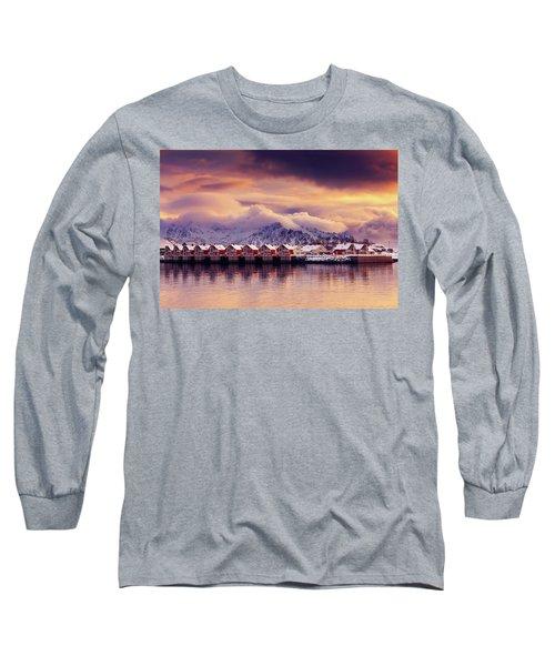 Sunset On Svolvaer Long Sleeve T-Shirt