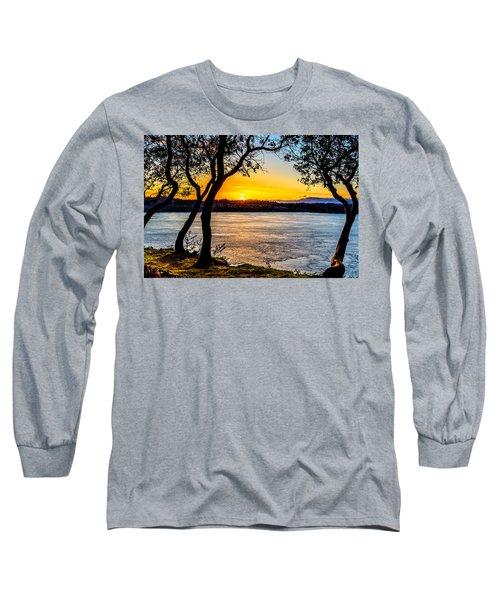 Sunset On Tacoma Narrows Long Sleeve T-Shirt