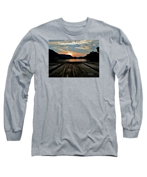 Sunset On The Dock Long Sleeve T-Shirt