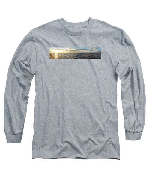 Sunset Over Cape Fear River Long Sleeve T-Shirt