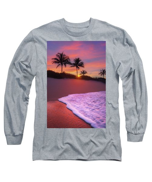 Sunset Over Coral Cove Park In Jupiter, Florida Long Sleeve T-Shirt