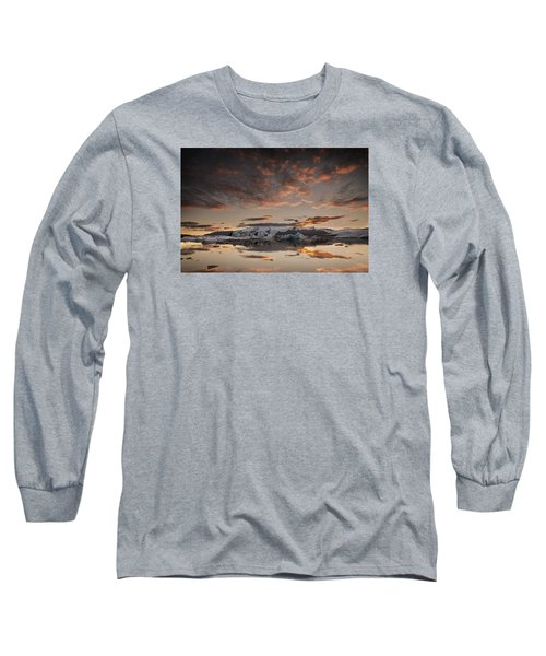 Sunset Over Jokulsarlon Lagoon, Iceland Long Sleeve T-Shirt
