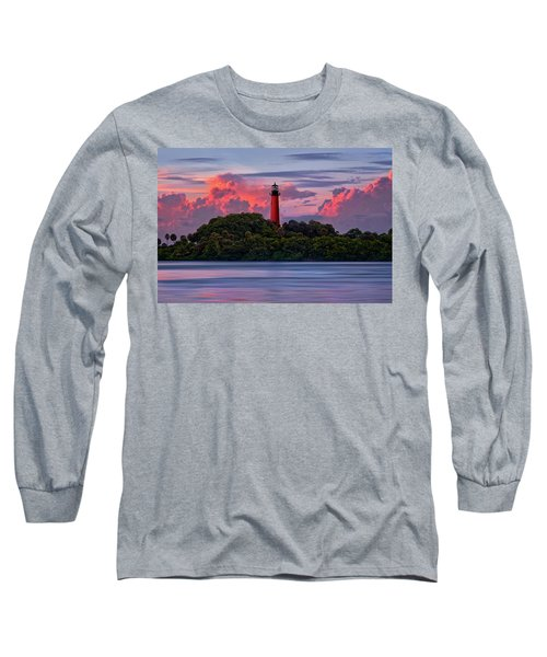 Sunset Over Jupiter Lighthouse, Florida Long Sleeve T-Shirt