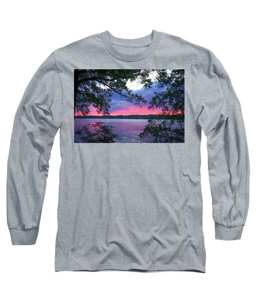 Sunset Over Lake Cherokee Long Sleeve T-Shirt