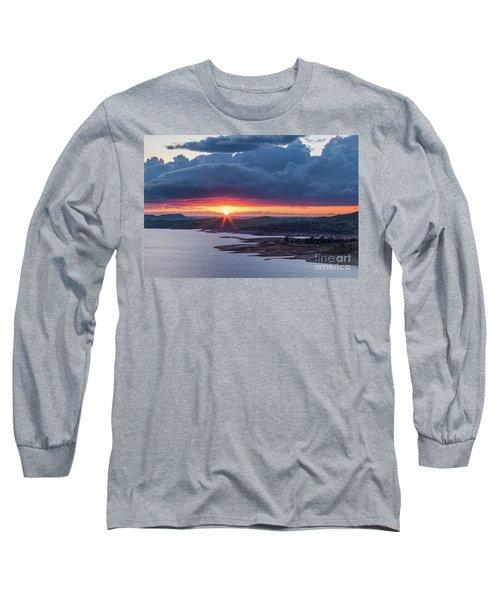 Sunset Over Millerton Lake  Long Sleeve T-Shirt