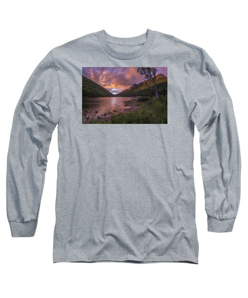 Sunset Over Profile Lake Long Sleeve T-Shirt