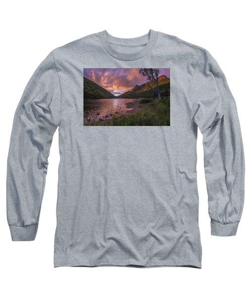 Sunset Over Profile Lake Long Sleeve T-Shirt