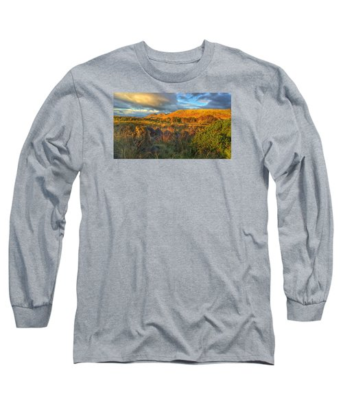 Sunset Over The Campsie Fells Long Sleeve T-Shirt by RKAB Works