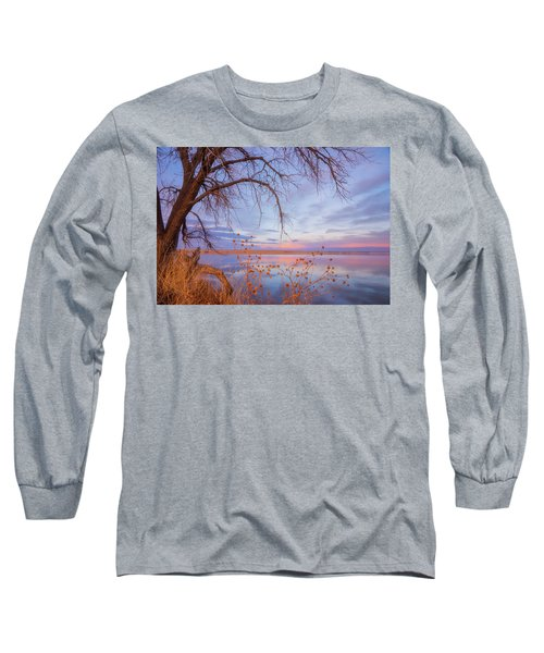 Long Sleeve T-Shirt featuring the photograph Sunset Overhang by Darren White