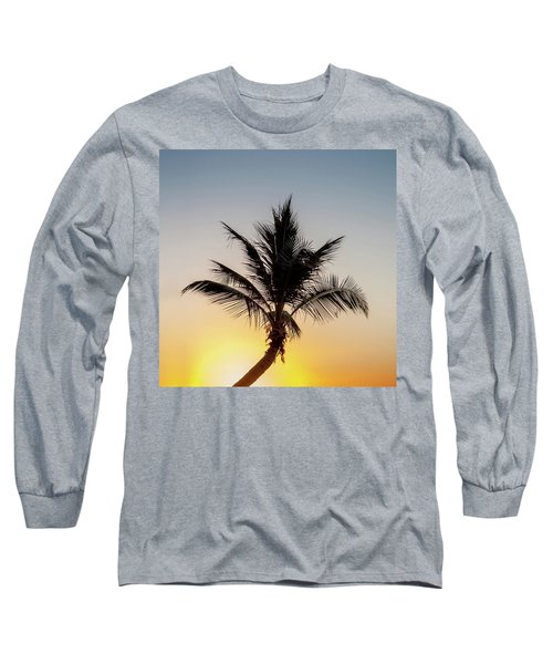 Long Sleeve T-Shirt featuring the photograph Sunset Palm by Az Jackson