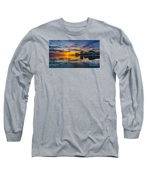 Sunset Reflection Long Sleeve T-Shirt by David Smith