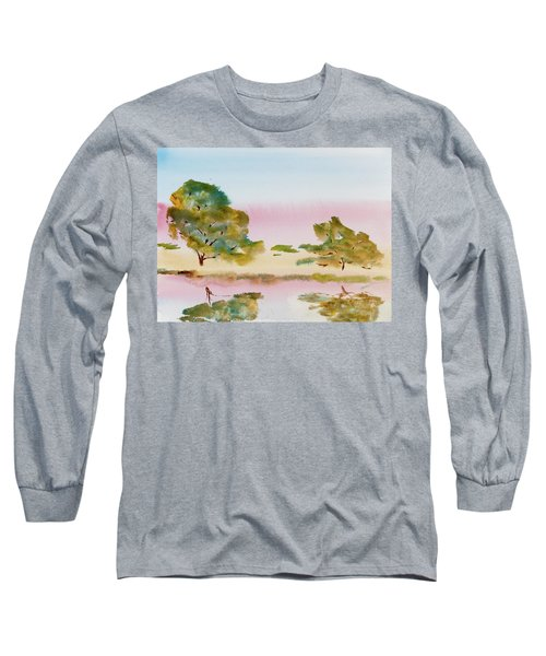 Reflections At Sunrise Long Sleeve T-Shirt