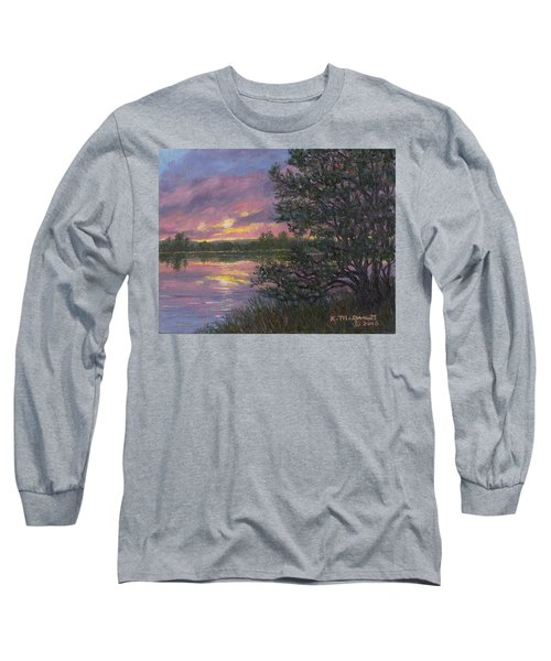 Sunset River # 8 Long Sleeve T-Shirt