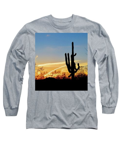 Sunset Saguaro In The Spring Long Sleeve T-Shirt
