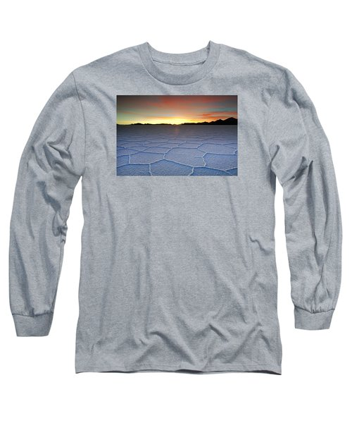 Lake Uyuni Sunset Texture Long Sleeve T-Shirt by Aivar Mikko