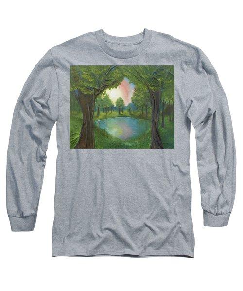 Sunset Through Trees Long Sleeve T-Shirt