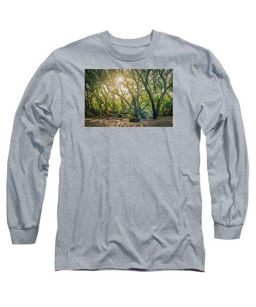 Sunset Thru The Trees Long Sleeve T-Shirt by Scott Meyer