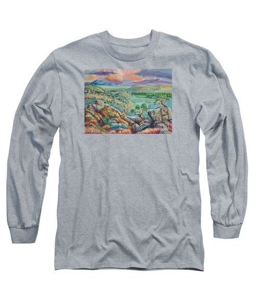 Sunset View From The Cedar Breaks Long Sleeve T-Shirt by Dawn Senior-Trask