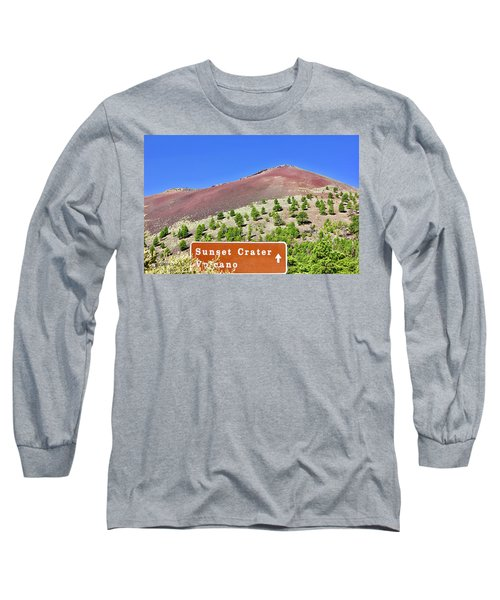 Sunset Crater Volcano Long Sleeve T-Shirt