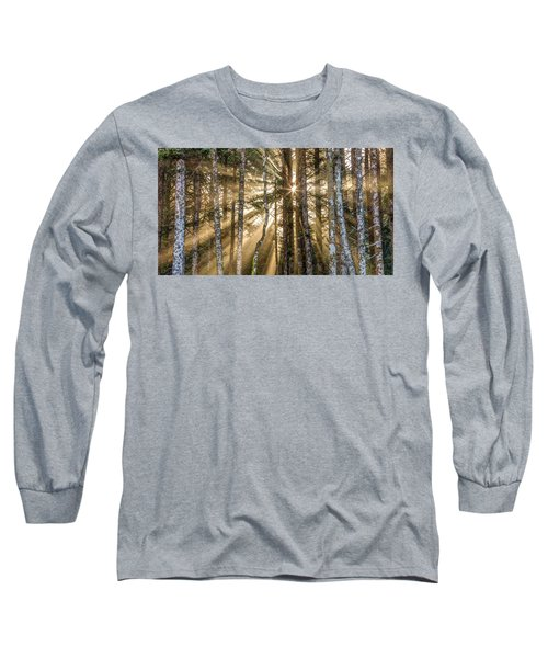 Sunshine Forest Long Sleeve T-Shirt by Pierre Leclerc Photography
